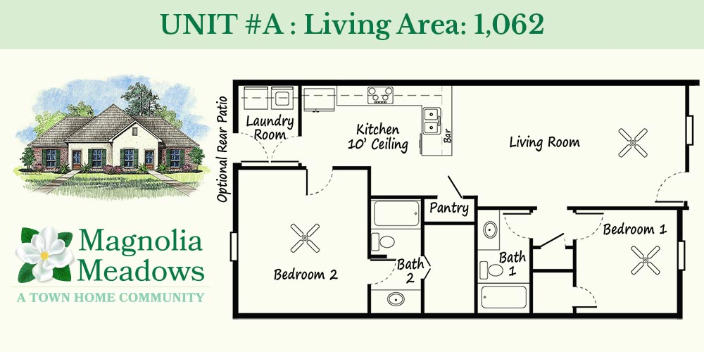 Unit A - Magnolia Meadows Townhomes