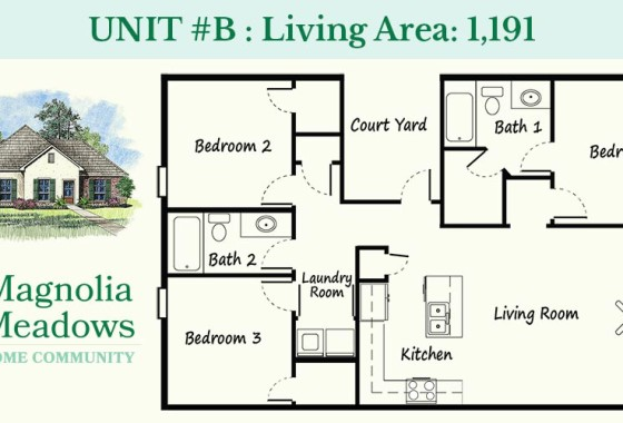 Unit B - Magnolia Meadows Town Homes