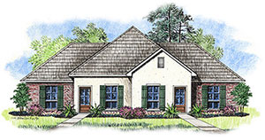 Townhome Elevation | Rendering of Magnolia Meadows Town Homes